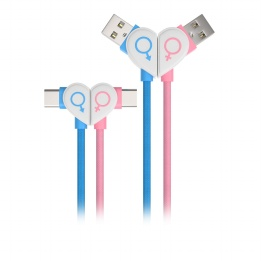 wholesale double elbow design Type-c cable with fast charging