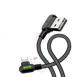 wholesale double elbow design lightning cable with fast charging