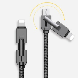 wholesale 2-in-1 cable for android & lightning with multi-function